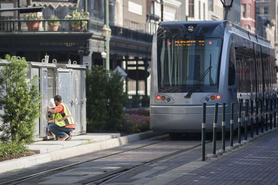 Metro Rail at the Main Street Station:The dumper can drop the news before quickly exiting the train, while the dumpee is swiftly carried away on the train of sadness. The dumper can then go to any of the bars to enjoy a cold drink and reflect on their future. Photo: Houston Chronicle