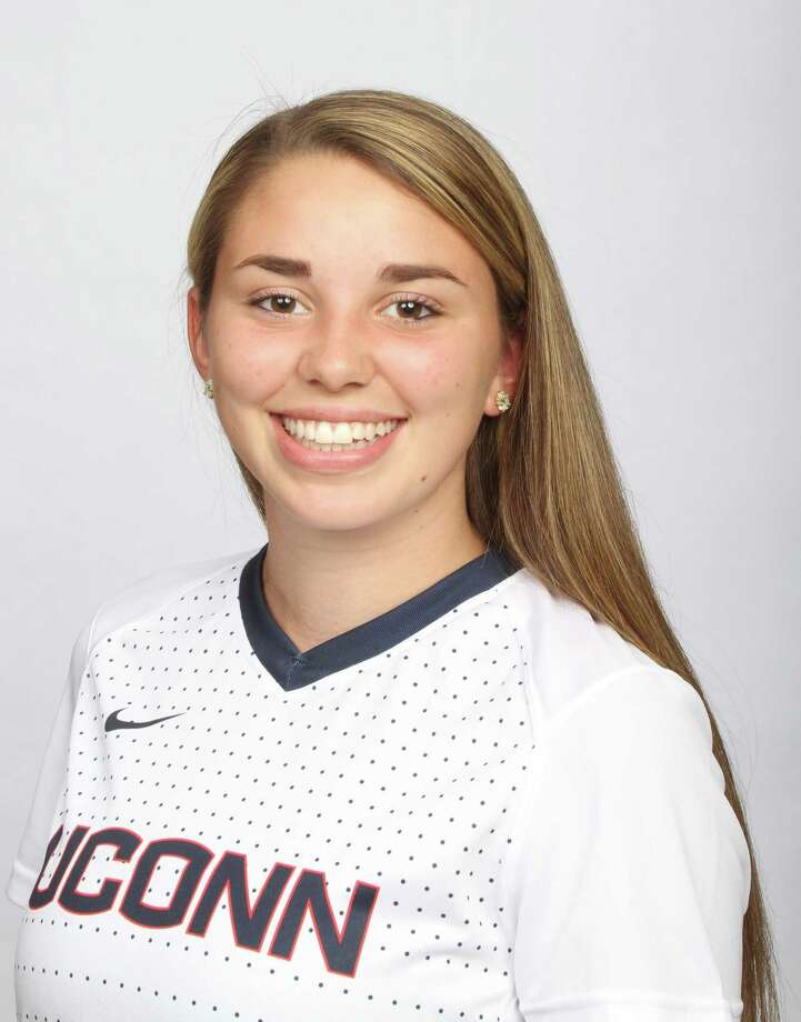 Westport resident and UConn freshman Sabrina Toole made 18 appearances (15 starts) this year for the UConn women's soccer team. Photo: Contributed Photo / Westport News Contributed