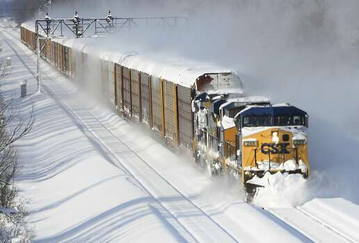in Lancaster, N.Y. Wednesday, Nov. 19, 2014. A lake-effect snow