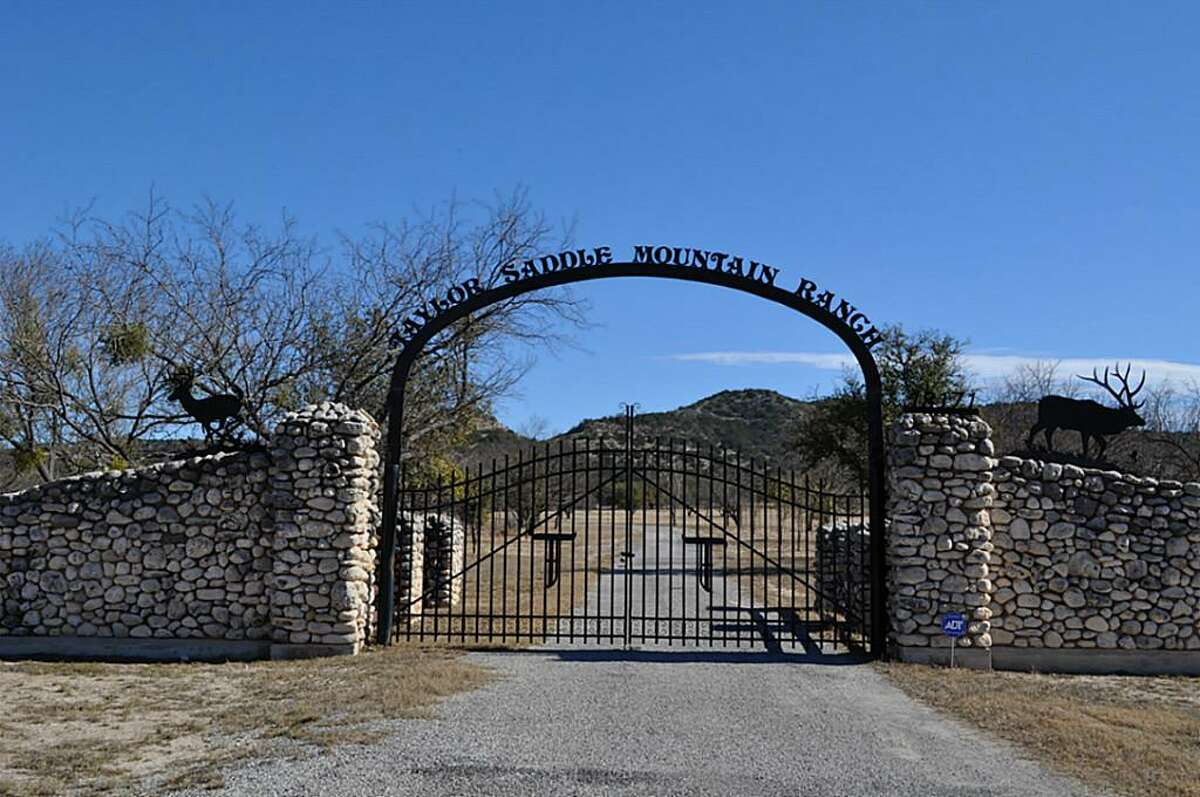 The Taylor Saddle Mountain Ranch is for sale near Camp Wood in Real County, Texas. The 1,686 acre exotic game ranch includes a private runway, a hunting lodge, two separate homes and a variety of exotic animals.
