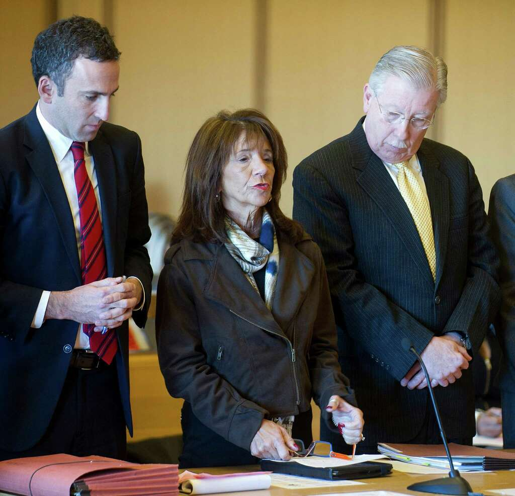 Stamford High School Principal Donna Valentine Speaks To The Judge During  Her Appearance In State Superior