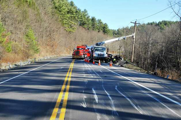 Clean up work continues at the scene on Route 7 where a tractor trailer heading east lost control and crashed on Wednesday, Nov. 19, 2014, in Hoosick, N.Y.  (Paul Buckowski / Times Union archive) Photo: Paul Buckowski / 00029552A