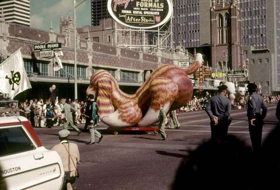 These Foley's Thanksgiving Day Parade photos were taken in downtown Houston in 1964 by Morris McQuitty and shared with the Houston Chronicle by his son, Dennis McQuitty. Photo: Morris McQuitty