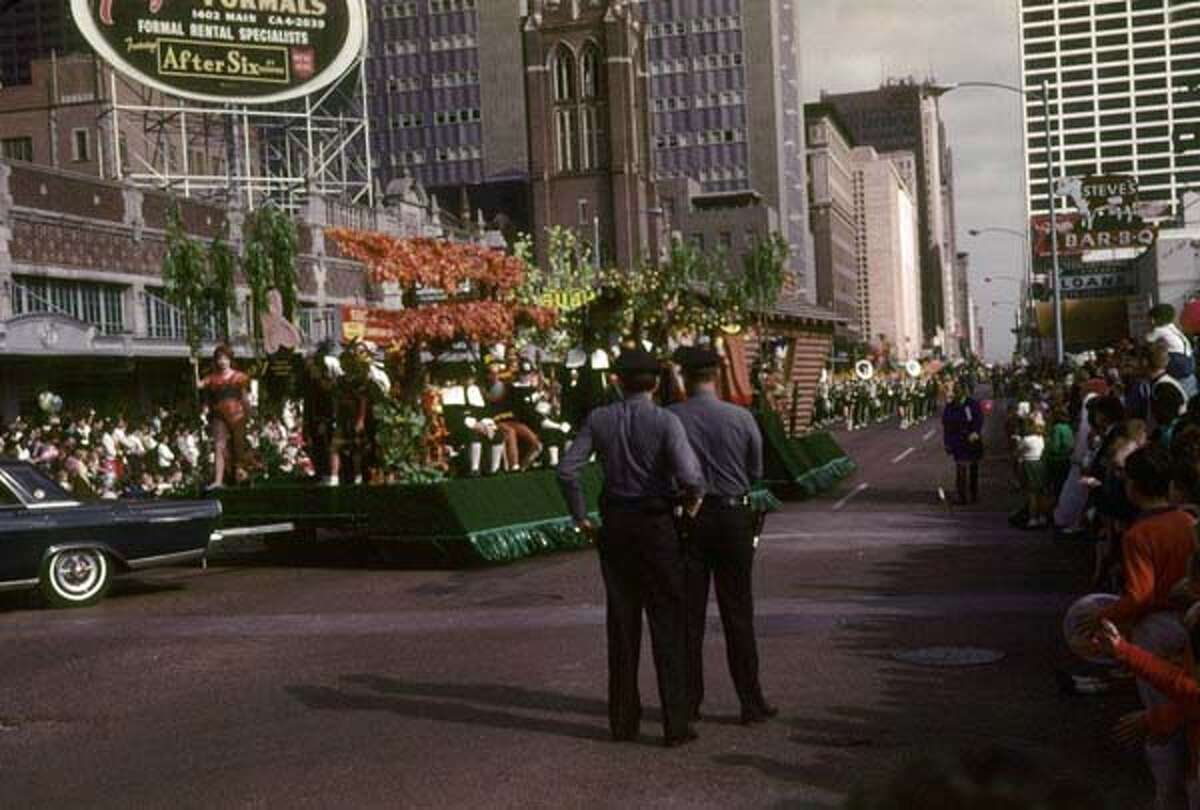 These Foley's Thanksgiving Day Parade photos were taken in downtown Houston in 1964 by Morris McQuitty and shared with the Houston Chronicle by his son, Dennis McQuitty.