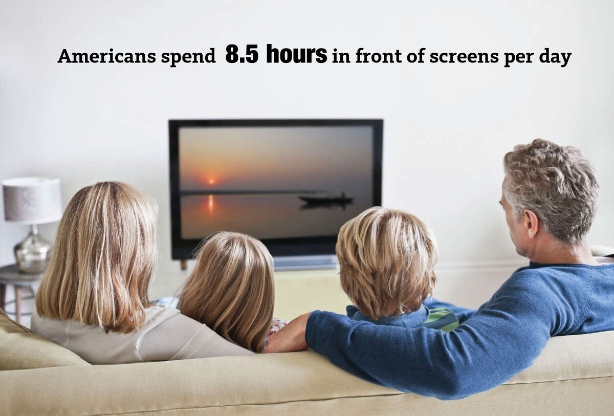 Americans spend 8.5 hours in front of screens per day, according to a 2009 study by the Council for Research Excellence