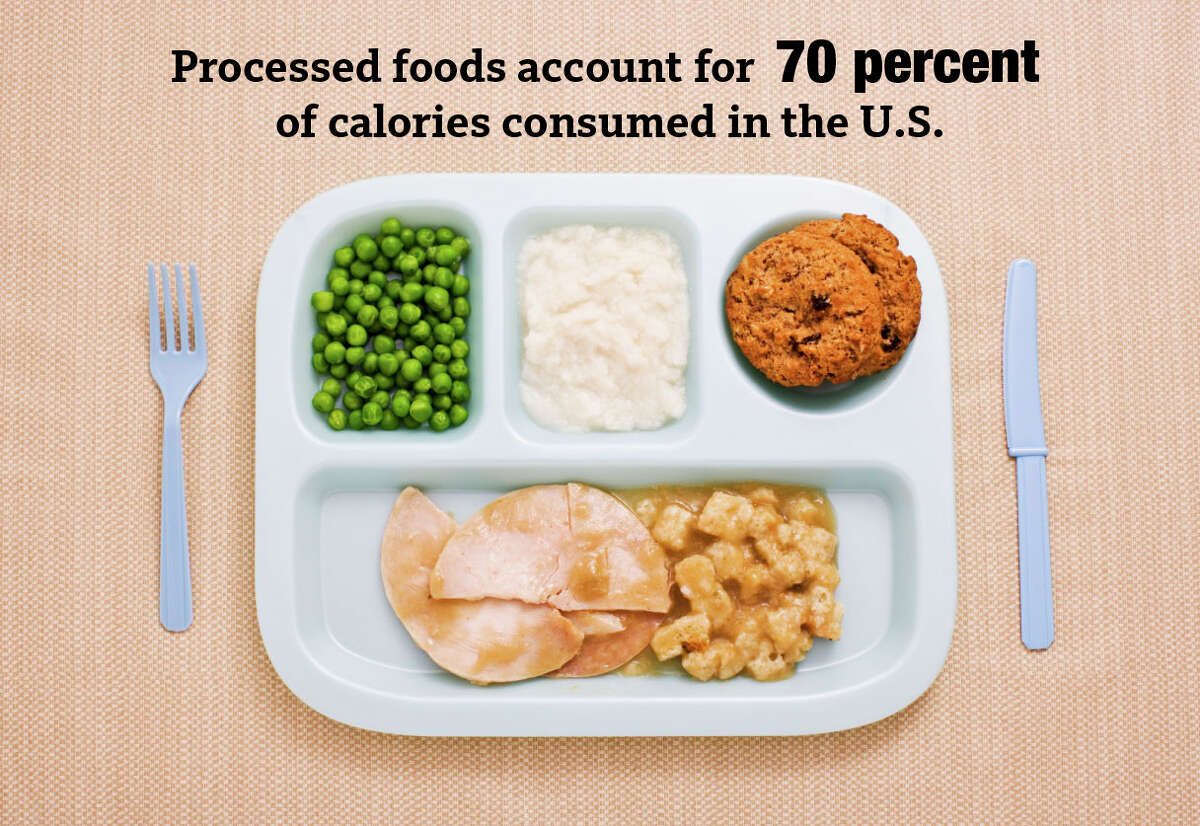 Processed foods account for 70 percent of calories consumed in the U.S., according to Pandora's Lunchbox, a book by NY Times reporter Melanie Warner