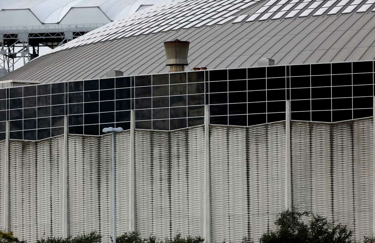 The Astrodome is scheduled to be power washed starting the first of December Wednesday, Nov. 19, 2014, in Houston, Texas. The work should be completed by January 10, 2015.