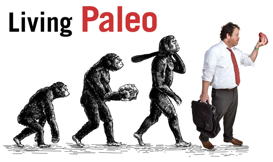 Reporter Chris Churchill takes on the caveman lifestyle Photo: Evolution Illustration: Man_Half-tube/GettyImages. Churchill Photo By Colleen Ingerto.
