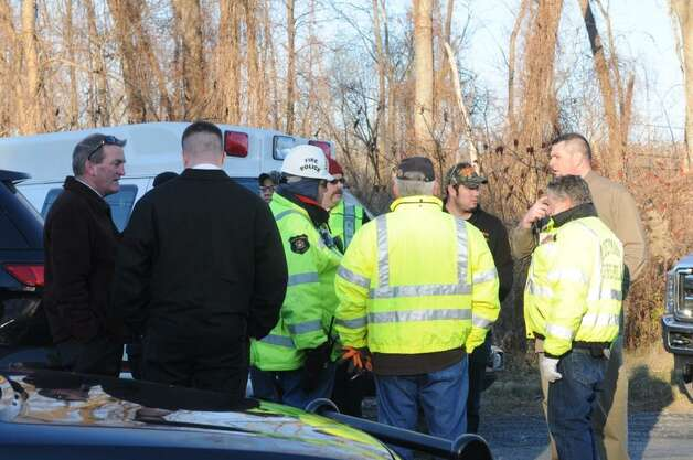 Officials are at the scene of where a body was discovered in Coeymans. (Michael P. Farrell / Times Union)