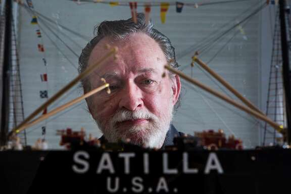 Bob Ivy's model ships include the Satilla, was the first deepwater vessel to enter the Port of Houston. The models are being exhibited at the Front Gallery in Montrose.