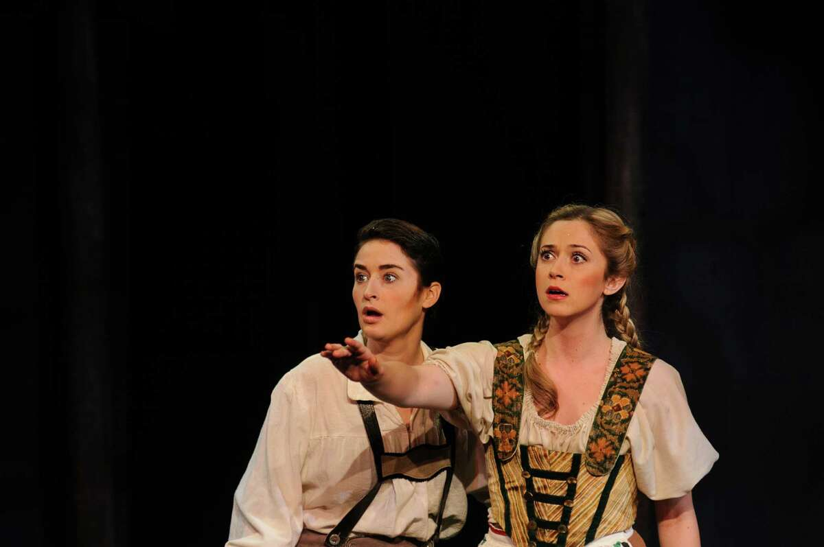 Hilary Ginther, left, and Katie Dixon brought Hänsel and Gretel, respectively, to life in Opera in the Heights' production.