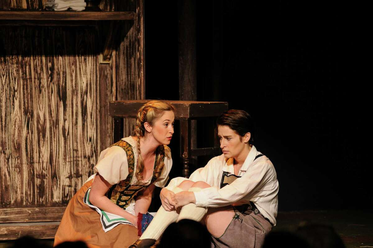 """Katie Dixon, left, plays Gretel and Hilary Ginther is Hänsel in Opera in the Heights' production of Engelbert Humperdinck's """"Hänsel and Gretel."""""""