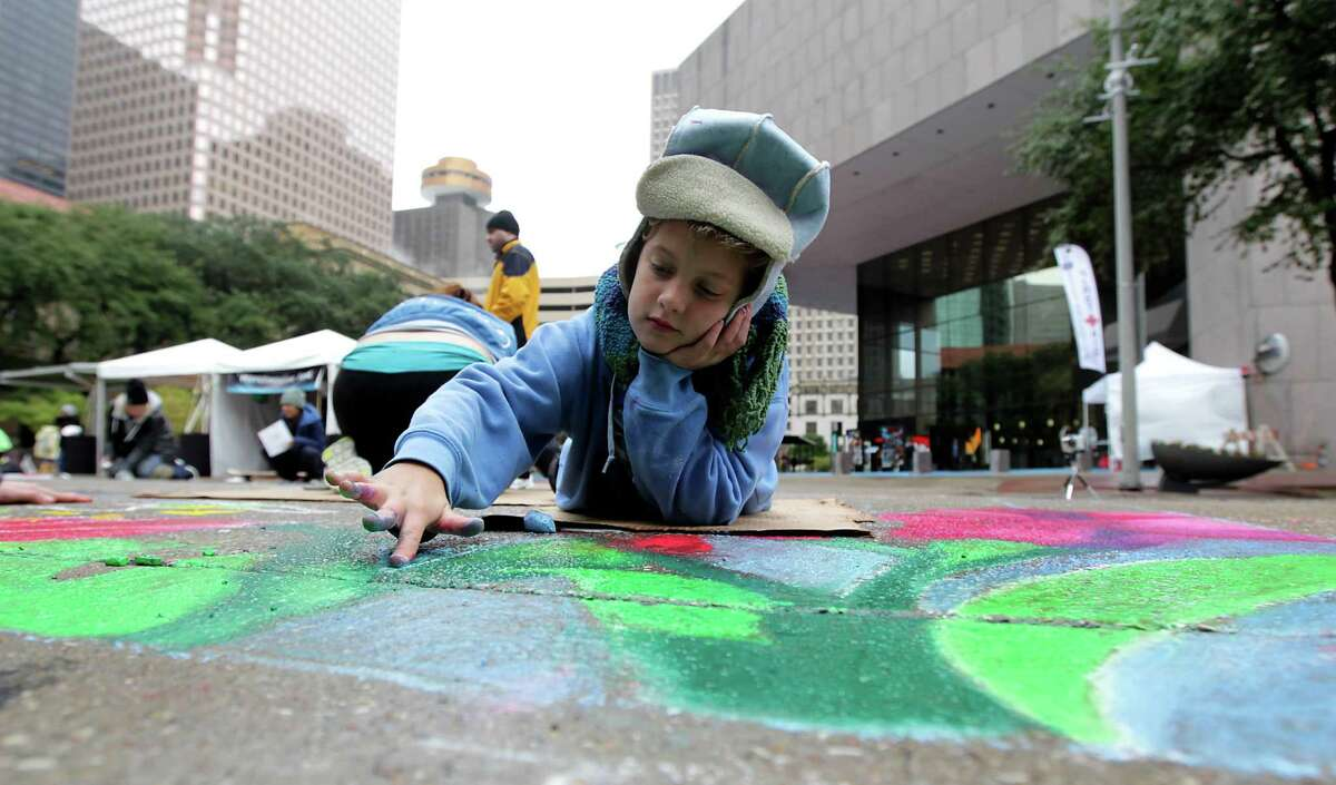 Color the streets with chalk during the Via Colori festival down-town this weekend.