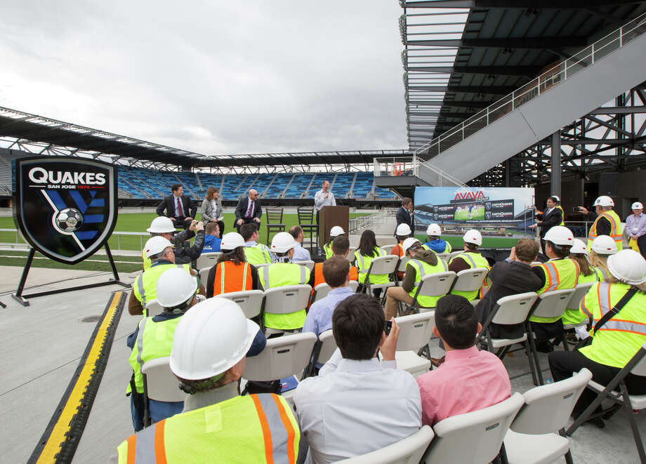 """The San Jose Earthquakes named their new stadium in San Jose Wednesday, revealing that Santa Clara-based technology firm Avaya had purchased the naming rights for a reported $20 million over 10 years. Construction on the 18,000-seat stadium is slated for completion by the time the Earthquakes take the field in March 2015. From here on in, the Quakes' new pitch will be known as Avaya Stadium. """"We are very proud to partner with a giant in the technology world for our stadium naming rights,"""" said Earthquakes president Dave Kaval."""