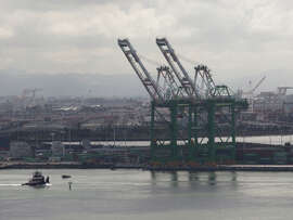 Import cargo at the Port of Oakland was up the most in six months during October.