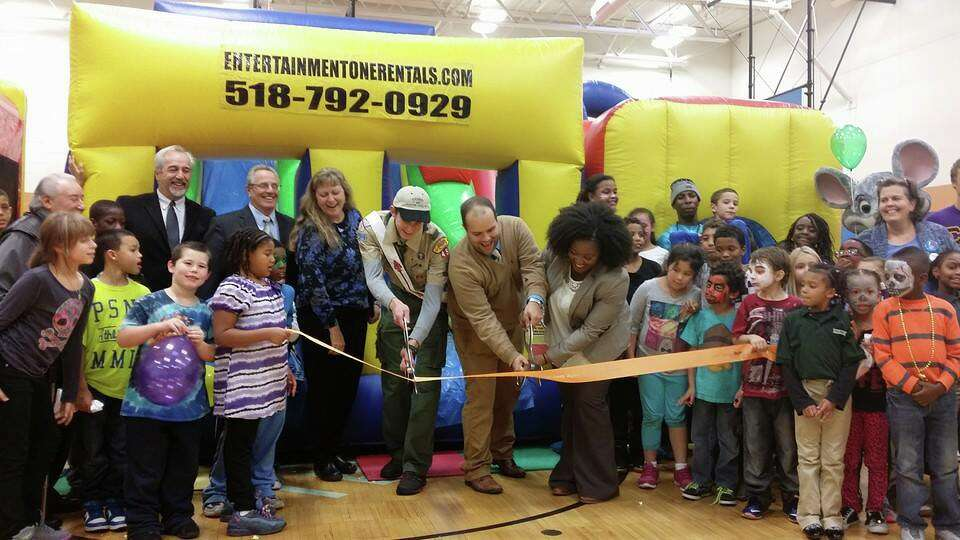 Troy Boys & Girls Club celebrated the unveiling of a new sign and walkway on National Lights on Afte