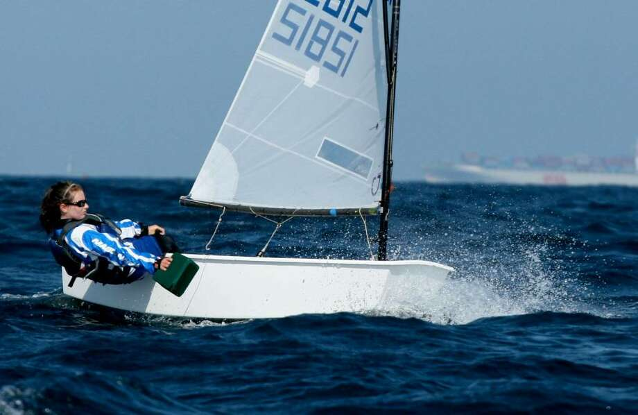 """Fourteen-year-old Darienite Megan Grapengeter-Rudnick is gearing up for her first """"international"""" sailing competition in South America.  Click here to read more about the sailing sensation. Photo: Contributed Photo / Darien News"""