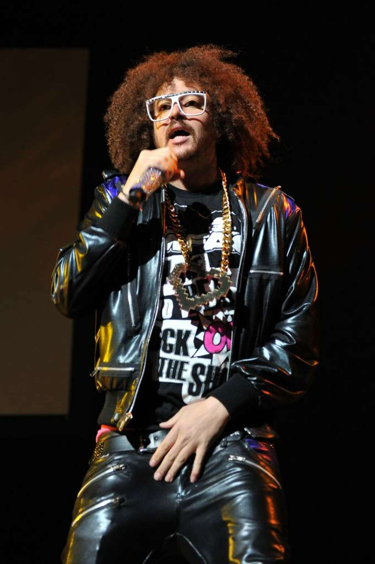 NEW YORK - FEBRUARY 24: Red Foo of LMFAO performs at Madison Square Garden on February 24, 2010 in New York City. (Photo by Bryan Bedder/Getty Images) *** Local Caption *** Red Foo