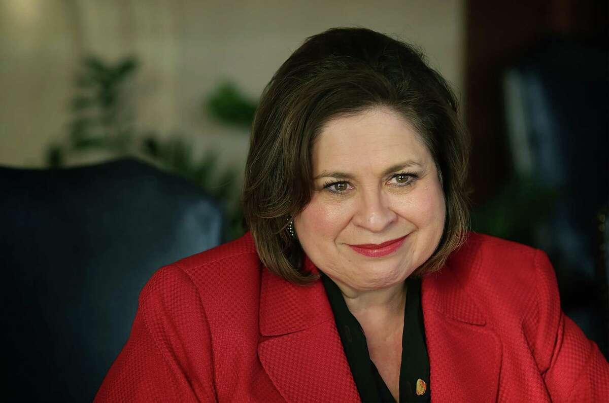 Texas Senator Leticia Van de Putte speaks with reporters about her decision to run for Mayor of San Antonio. Wednesday, Nov. 19, 2014.