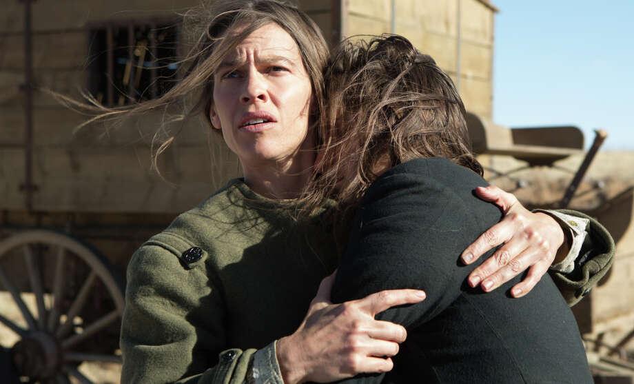 "Hilary Swank as lit by Rodrigo Prieto in ""The Homesman."" Photo: Dawn Jones / Associated Press / Roadside Attractions"