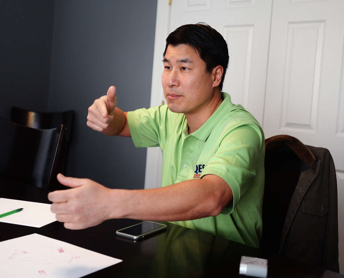 Dr. Victor Ho recounts his experience of walking in on robbers at his home in Houston. The men placed a gun to his head and forced him to open his safe. Ho is offering to pay for the education for the young men who robbed his Houston home if they turn themselves in and do their time. (Jake Daniels/The Enterprise)
