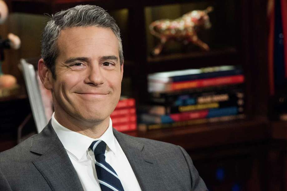 "In this Nov. 5, 2014 photo, host Andy Cohen poses for a portrait on the set of his show, ""Watch What Happens Live,""  in New York. Cohen has published a second book, ""The Andy Cohen Diaries: A Deep Look at a Shallow Year."" Photo: Charles Sykes / Associated Press / SYKEC"