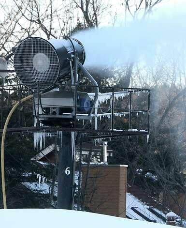 Snow making machines were on full force to get ready for the ski season at Windham Mountain on Wednesday, Nov. 19, 2014 in Windham, N.Y.  (Lori Van Buren / Times Union) Photo: Lori Van Buren