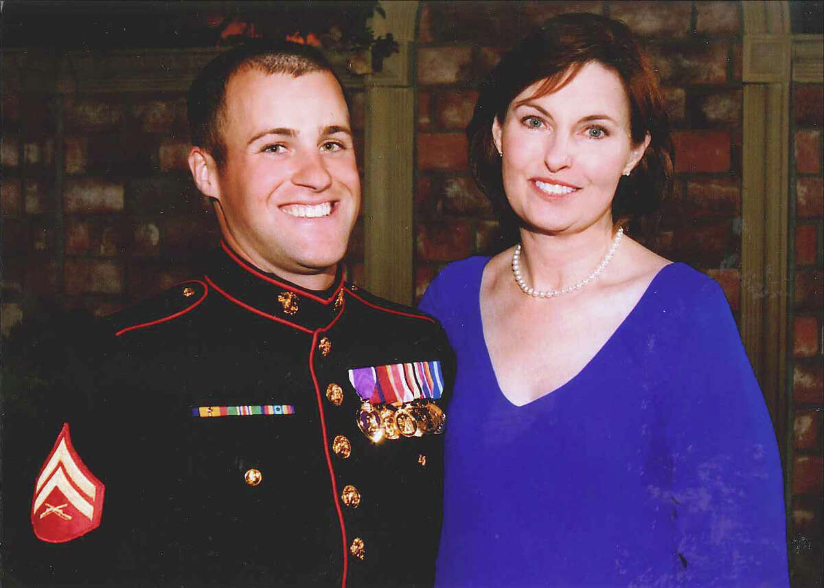 Clay Hunt, shown with his mom, Susan Hunt Selke, possibly in early 2009, struggled with post traumatic stress until his death.