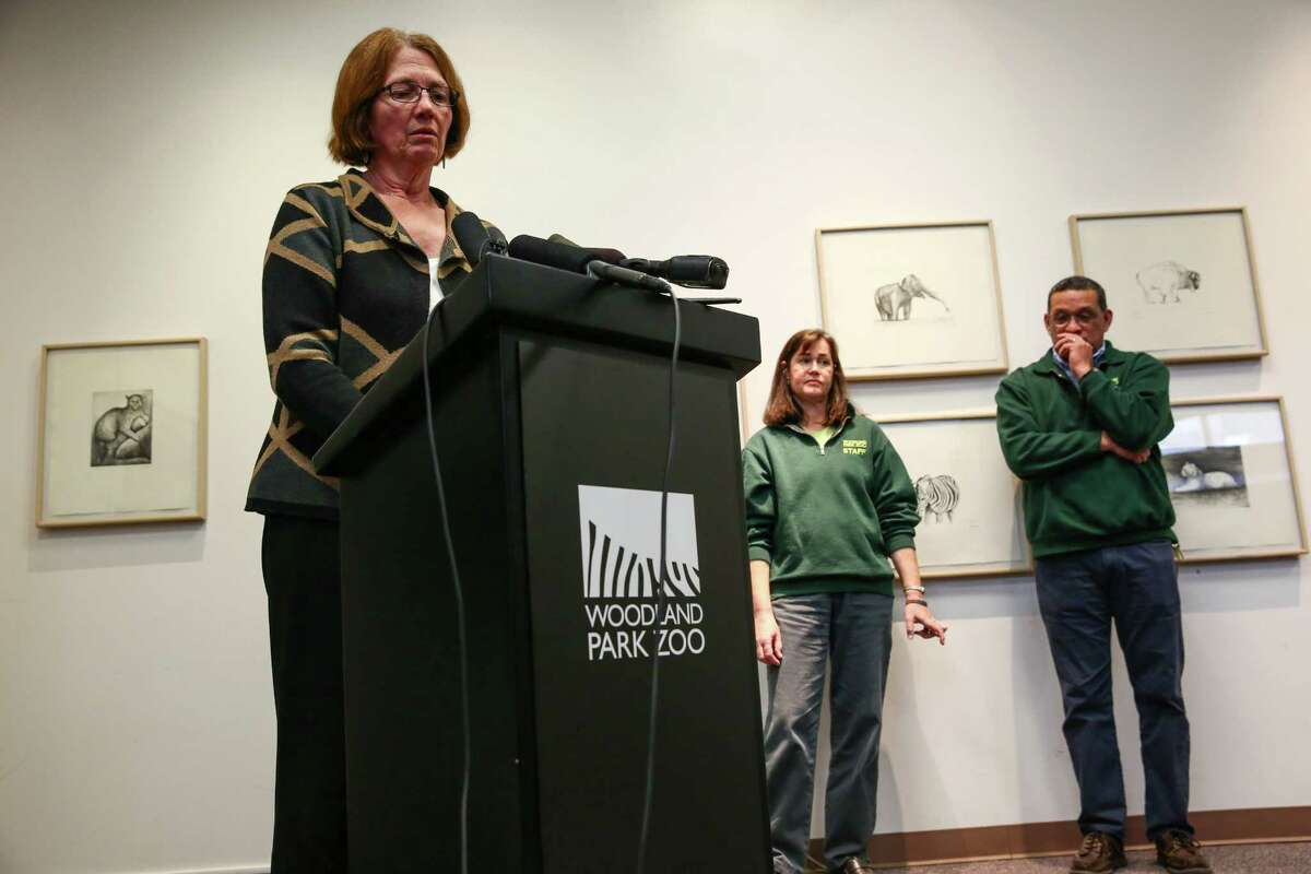 Deborah Jensen, CEO and President of Woodland Park Zoo, announces that the zoo will end its elephant program and will find a new home for the two remaining elephants Bamboo and Chai.