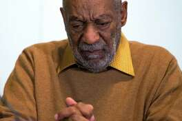 Bill Cosby pauses Nov. 6 during a news conference about the upcoming exhibit, Conversations: African and African-American Artworks in Dialogue.