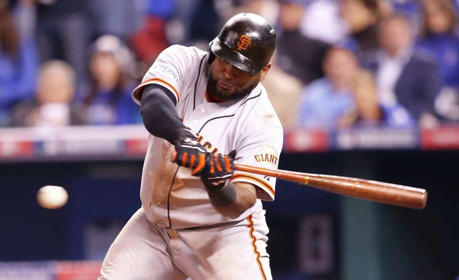 Third baseman Pablo Sandoval, a postseason hero for the Giants, is a hot commodity on the free-agent market and could get a deal worth $100 million or more. Photo: Michael Macor / The Chronicle / ONLINE_YES