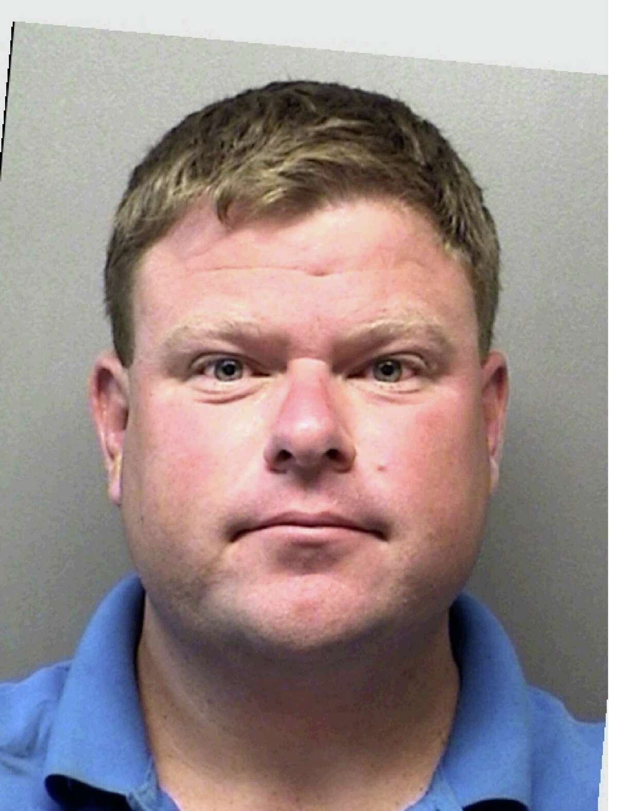 The San Antonio Fire Department has suspended Lt. Lee Michael Stanphill, 39, with two prior convictions for driving while intoxicated after he was arrested a third time in late October for allegedly driving a city-owned vehicle while intoxicated in Bandera County. He has been charged with driving while intoxicated - third offense or more, a third degree felony punishable by up to ten years in prison and a maximum $10,000 fine. Pictured, Stanphill's mugshot from a prior DWI arrest in Kendall County.