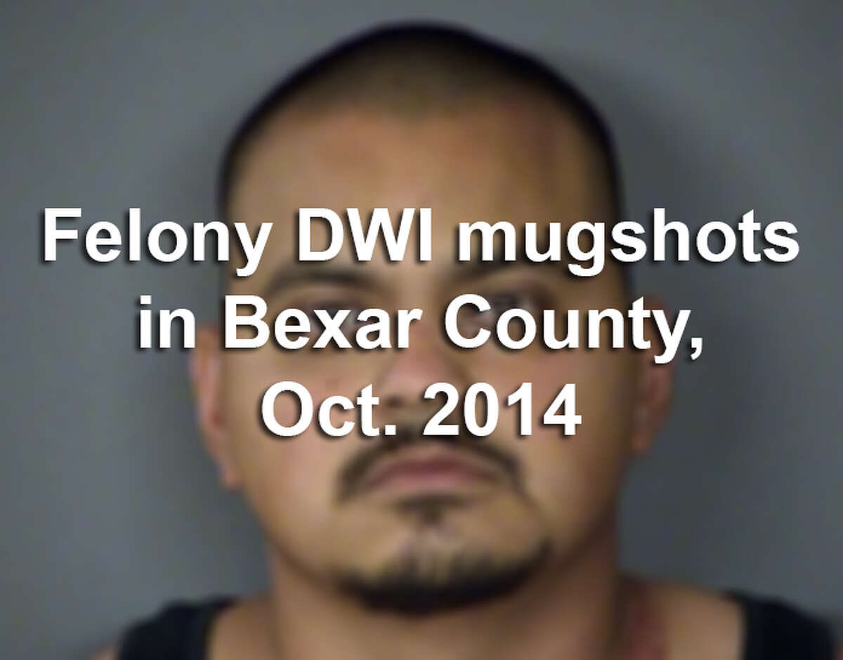 At least 74 people were arrested on suspicion of a felony drunken driving offense in Bexar County in October, according to the Bexar County District Attorney's Office.Scroll through to see if you recognize any of these faces.