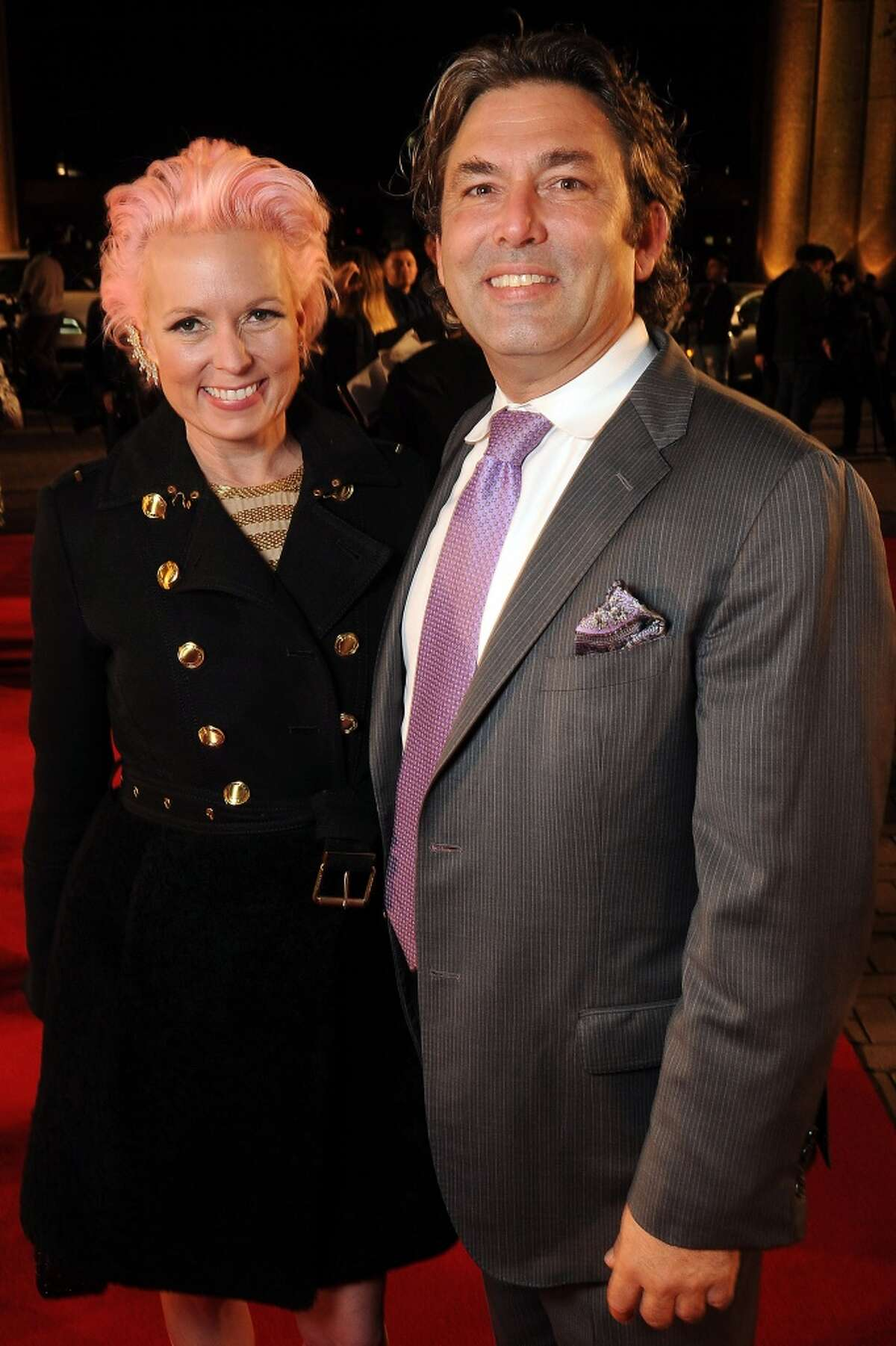Vivian Wise and Jared Lang on the red carpet at Fashion Houston 5 at the Wortham Theater Wednesday Nov. 19, 2014.(Dave Rossman photo)