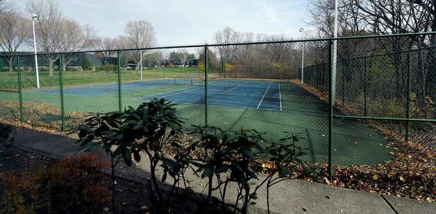 The tennis courts of the Bethlehem Terrace Apartments Thursday morning Nov. 13, 2014 in Slingerlands, N.Y.    (Skip Dickstein/Times Union) Photo: SKIP DICKSTEIN / 00029466A