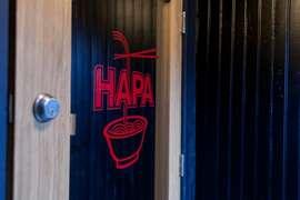 Signage at Hapa Ramen