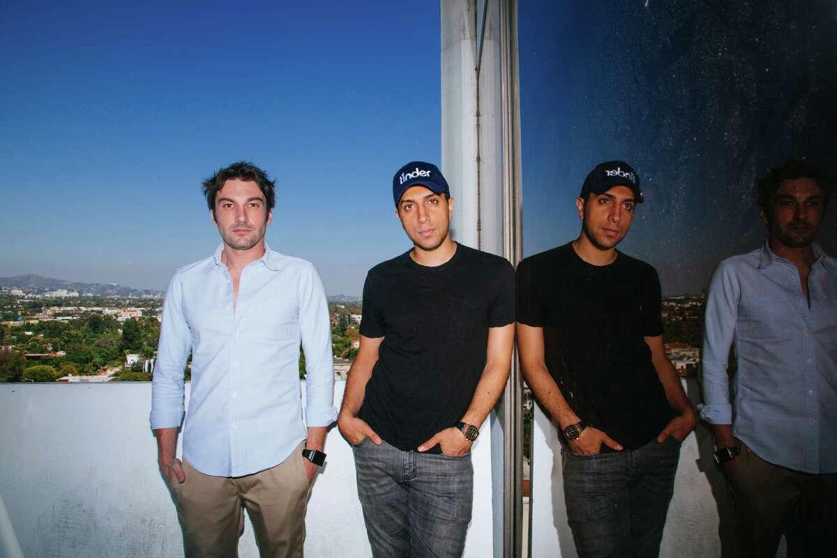 Tinder founders Jonathan Badeen, left, and Sean Rad say photos convey thousands of signals.