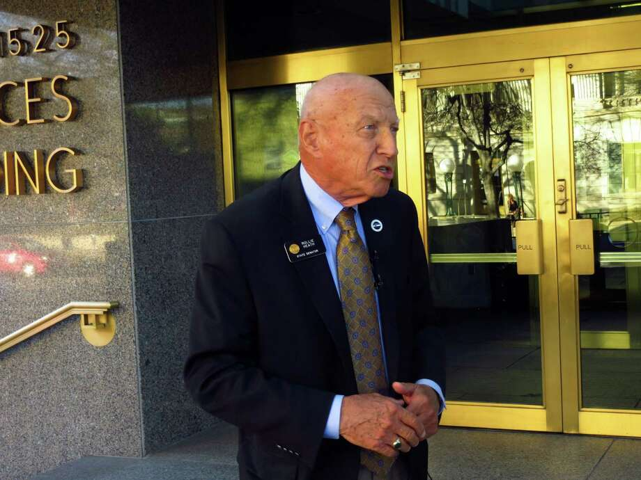 """Colorado state Sen. Rollie Heath, D-Boulder, discusses his party's loss of the chamber in Denver on Nov. 8, 2014. """"It's never easy to lose, but I think we can all look back and be very, very proud,"""" he said. Photo: Kristen Wyatt / Associated Press / AP"""