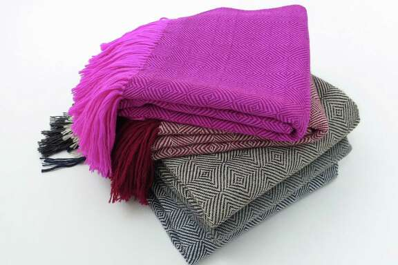 """""""Alpaca and handwoven cotton throws you can throw on your bed or use as a shawl."""" — Erica Tanov, clothing and textile designer and store owner. Alpaca throws, $624 each. shop.ericatanov.com"""