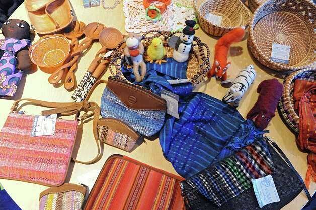 Some of the wares to be sold at the Black Friday Fair Trade Market happening next weekend at the Delmar Reformed Church Tuesday, Nov. 18, 2014 in Delmar,  N.Y. (Lori Van Buren / Times Union) Photo: Lori Van Buren / 00029523A