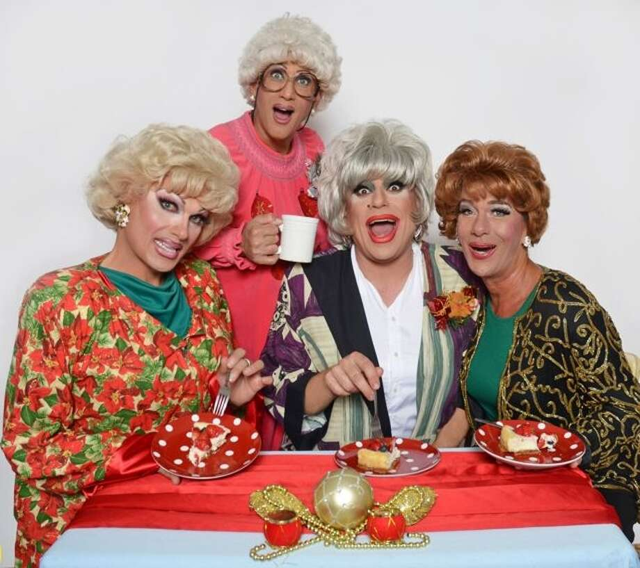 "Pollo Del Mar (Rose), Cookie Dough (Sophia), Heklina (Dorothy) and Matthew Martin  (Blanche) star in the ninth annual all-drag ""The Golden Girls: The Christmas Episodes"" playing Dec. 4-21 at the Victoria Theatre in San Francisco. www.trannyshack.com Photo: Jose Guzman Colon / ONLINE_YES"