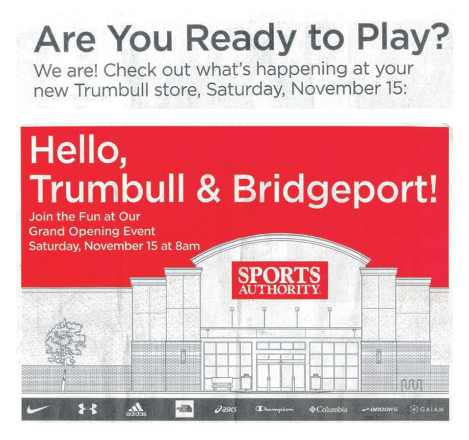 Some Bridgeport residents have complained the new Sports Authority store in Bridgeport's North End tried to market itself in fliers mailed last week and online as being based in nearby Trumbull. Photo: Contributed Photo / Connecticut Post Contributed