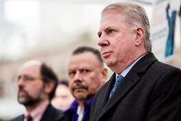 Mayor Ed Murray appears during a rally organized by OneAmerica as part of a National Week of Action to demand robust executive measures to stop deportations and keep families together Thursday, November 20, 2014, in Seattle, Washington. (Jordan Stead, seattlepi.com)