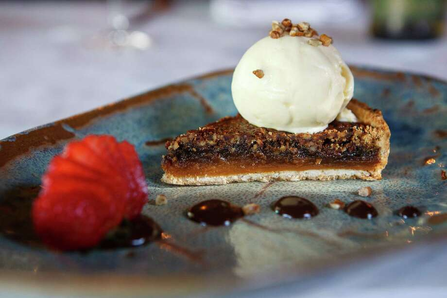 Cane syrup and candied yams pecan pie at Cookhouse. Photo: Spencer ...