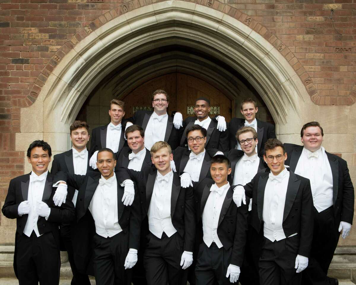 The Yale Whiffenpoofs, the world's oldest collegiate a cappella group, comes to Bridgeport's Bijou Theatre on Saturday, Dec. 13, at 8 p.m. Bridgeporter Brandon Sherrod, a graduate of Stratford High School, is shown in the top row, second from right.