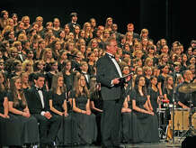 "The 110 voices of the Fairfield County Children's Choir will join the Greater Bridgeport Symphony in a special holiday concert, ""A Folk Christmas,"" Saturday, Dec. 6, at 8 p.m. at the Klein Memorial Auditorium in Bridgeport. Shown above is Jon Noyes, the choir's founder and music director."