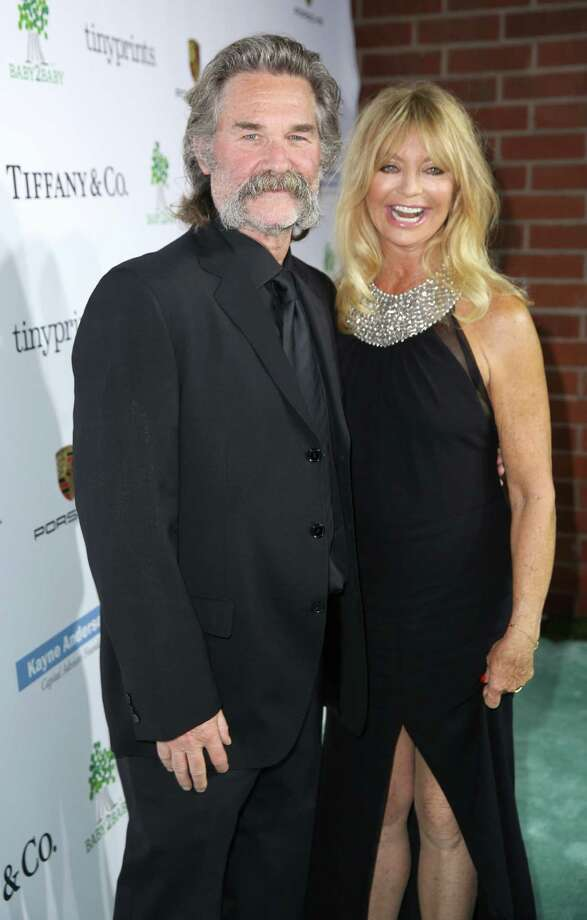 Kurt Russell, left, and Goldie Hawn arrive at the Third annual Baby2Baby Gala honoring Kate Hudson at The Book Bindery on Saturday, Nov. 8, 2014, in Culver City, Calif. (Photo by Matt Sayles/Invision/AP) ORG XMIT: CABR117 Photo: Matt Sayles / Invision
