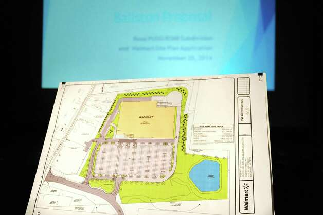 An artist's rendering of a proposed 137,000 square-foot Walmart on Thursday, Nov. 20, 2014, at Ballston Spa High in Ballston Spa, N.Y. (Cindy Schultz / Times Union) Photo: Cindy Schultz / 00029572A