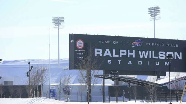 A snow covers around Ralph Wilson Stadium, home of the Buffalo Bills,  in Orchard Park, N.Y.  on Wednesday, Nov. 19, 2014.  A ferocious lake-effect storm left the Buffalo area buried under 6 feet of snow Wednesday, trapping people on highways and in homes, and another storm expected to drop 2 to 3 feet more was on its way. (AP Photo/The Buffalo News, Harry Scull Jr.)  TV OUT; MAGS OUT; MANDATORY CREDIT; BATAVIA DAILY NEWS OUT; DUNKIRK OBSERVER OUT; JAMESTOWN POST-JOURNAL OUT; LOCKPORT UNION-SUN JOURNAL OUT; NIAGARA GAZETTE OUT; OLEAN TIMES-HERALD OUT; SALAMANCA PRESS OUT; TONAWANDA NEWS OUT    ORG XMIT: NYBUE115 Photo: Harry Scull Jr. / The Buffalo News