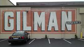 In case you didn't know what to call this area, the new GILMAN DISTRICT sign across the street from Whole Foods welcomes visitors.